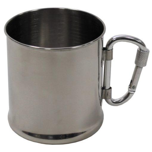 MFH-1092 - Tasse Edelstahl Karabiner einwandig 220 ml